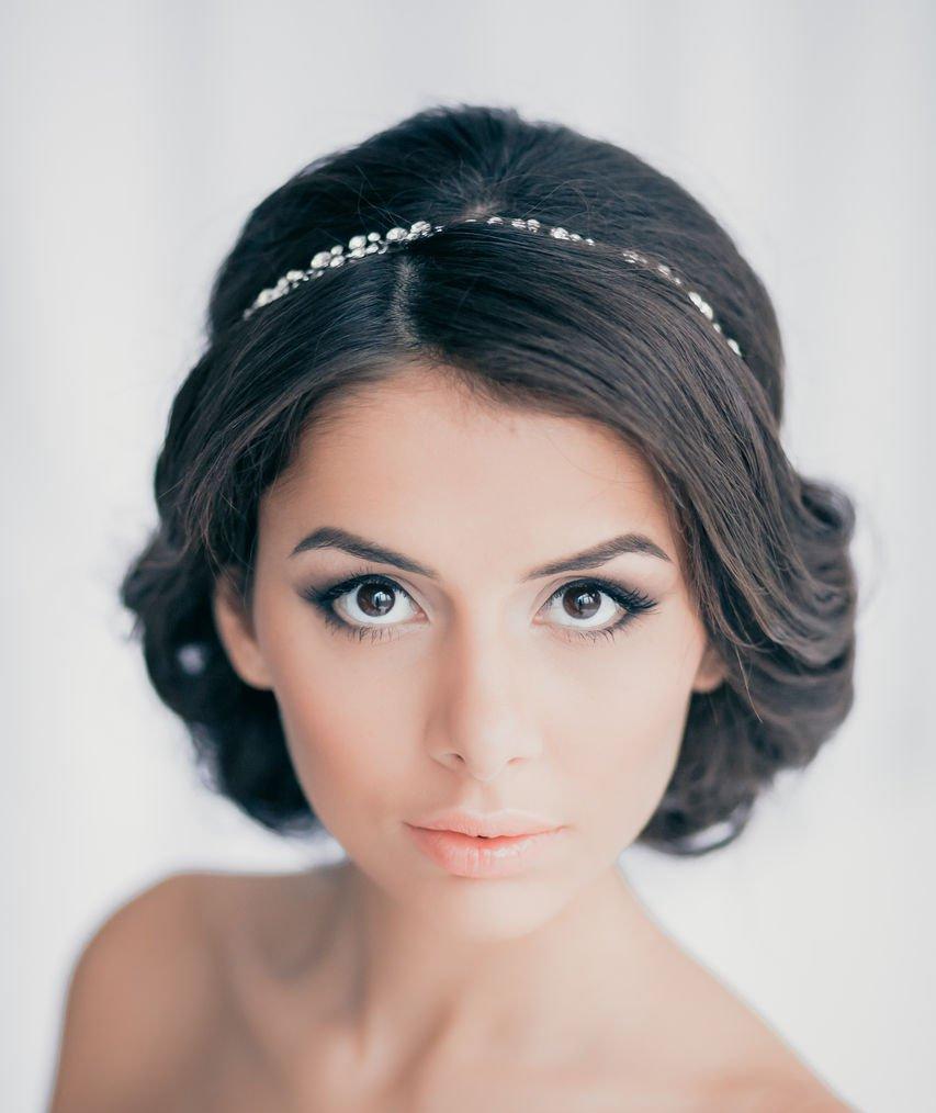 Свадебные прически на каре волосы фото